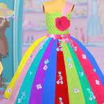 Bffs Rainbow Tulle Dress