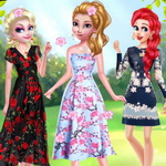 Disney Princesses Flower Fashion