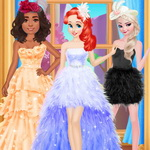 Princess Feather Style Dress
